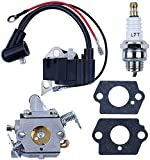 HAISHINE Carburador Kit Bujía Bobina de Encendido para Stihl 017 018 MS170 MS180 MS 170 180 Repuestos de Motosierra