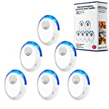 Ultrasonic Pest Repeller, 6 Packs, 2020 Upgraded, Electronic Indoor Pest Repellent Plug in for Insects, Mice,Ant,...