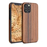 kalibri Hülle kompatibel mit Apple iPhone 12/12 Pro - Handy Holz Schutzhülle - Slim Hülle Handyhülle Braun