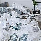 ROLANDBOT Netter Print Cotton 4 Stück Bettbezug-Set (1 Festspannlake +1 Striped Bettbezug + 2 Kissen-) hypoallergen Super Soft Warm Weichere (Farbe : 8, Size : 86' x90'+71'x 78')