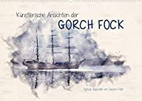 Kuenstlerische Ansichten der Gorch Fock (Wandkalender 2021 DIN A2 quer): Aquarellierte Ansichten der Gorch Fock (Monatskalender, 14 Seiten )