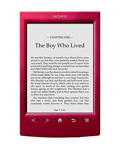 Sony PRST2HRC - Lector de e-Book, WiFi, Color Rojo