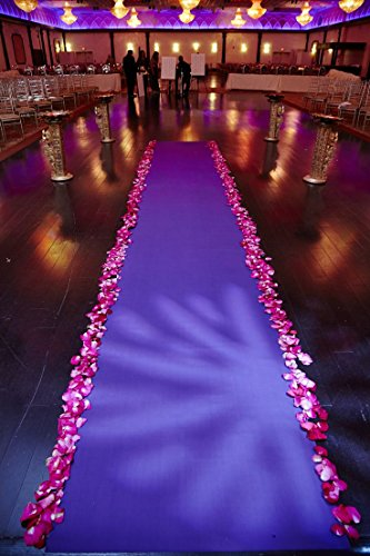 Satin Aisle Runner 50Ft 5 Ft wide - wedding, red carpet events - seamless (White)
