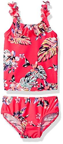 Osh Kosh Baby Girls' Infant Palms Tankini Swimsuit Set, Coral Red, 12M