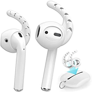 AhaStyle 3 Pairs Ear Hooks Cover Silicone Earbuds Tips for Apple AirPods 2 & 1 and EarPods (White)