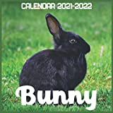 Bunny Calendar 2021-2022: April 2021 Through December 2022 Square Photo Book Monthly Planner Bunny, small calendar