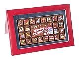 Tableta de chocolate con caja de regalo - 'Feliz cumpleaños' - 70 g
