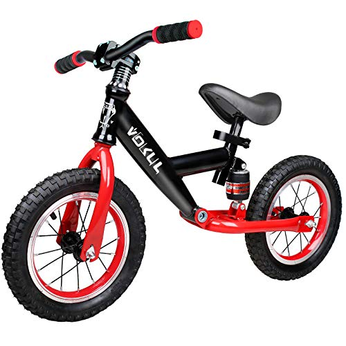 VOKUL Sport Balance Bike for Toddlers Age 2,3.4 Years,No Pedal Sport s,No Pedal Sport Training Bicycle with 12' Alloy Durable Wheels Air Tires (Red)