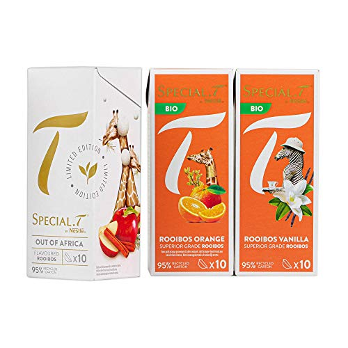 Special.T - Thé aux Rooibos - Out of Africa, Rooibos Orange, Rooibos Vanilla (3 types de 10 capsules)