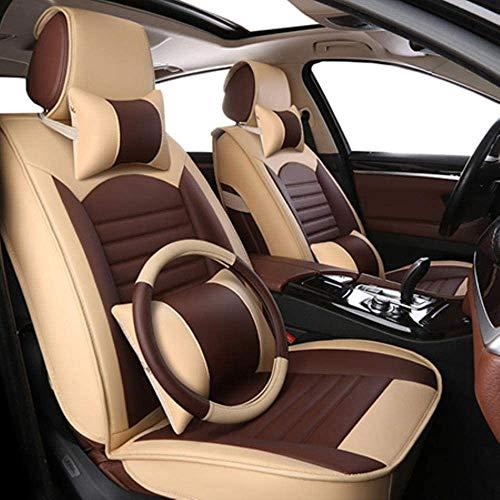 QQJK Sitzbezüge Auto Set Autositzbezüge Leder für Ford F-150 F-250 F-350 F-450 Falcon Fiesta Mk7 Limousine,...
