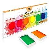 Paleta de pintura de acuarela con 6 colores de neón -...