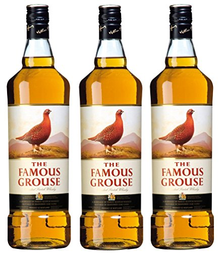 3 Flaschen Famous Grouse a 1000ml Scotch Whisky 40% Vol.