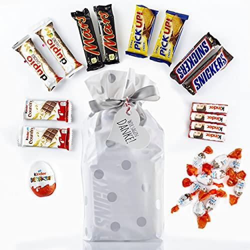 Süßigkeiten Box - Snack Box mit verschiedenen Schokoriegeln, 8 Sorten, 25 Teile - Süßigkeiten Geschenkbox