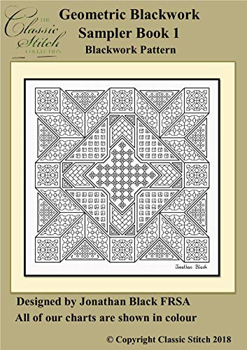 Geometric Blackwork Sampler Book 1 Blackwork Pattern (English Edition)