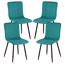 modern teal chairs
