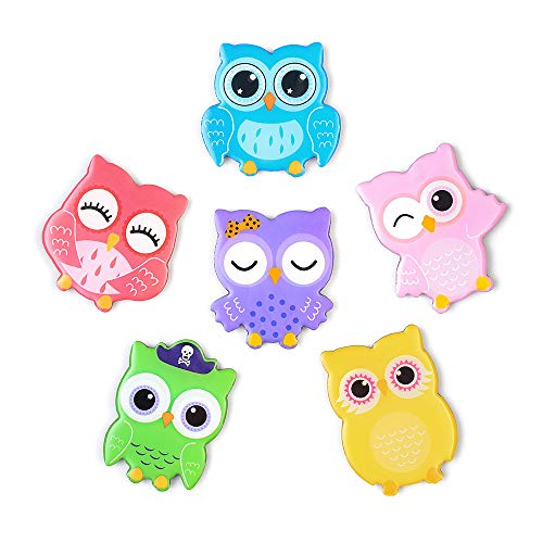 Morcart Refrigerator Magnets Cute Owl Animal Magnet For Fridge Kid Toys Student Lockers Door Map Office Whiteboard Best Gift Choice 6 PCS