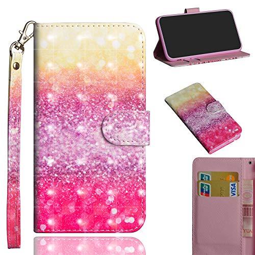 JARNING Kompatibel mit ZTE Z986 Hülle Leder Schutzhülle 3D Painting Wallet Tasche Flip Case mit Magnetverschluss Kartenfach für ZTE Z986 (Gradient)