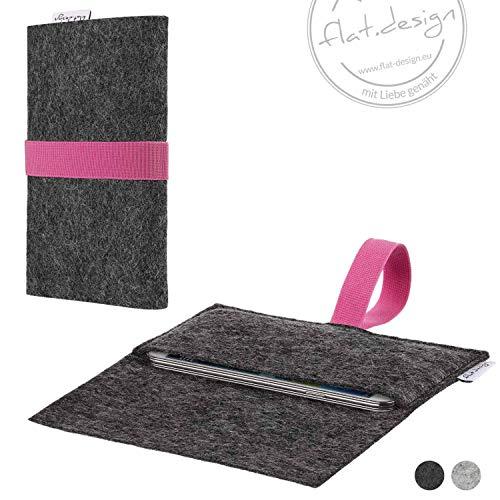 Handy Tasche AVEIRO Filz Hülle Case rosa