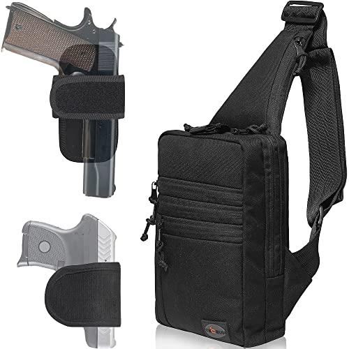 TECEUM Tactical Bag – Shoulder Sling Bag for Concealed...