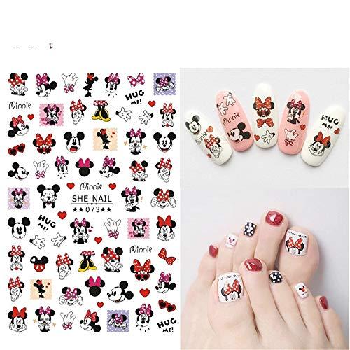 ZJIUYE Autocollant d'ongle 2 Feuilles Autocollants Ongles pour Nail Art Conseils décorations manucure Faux Ongles Accessoires Anime Stickers B