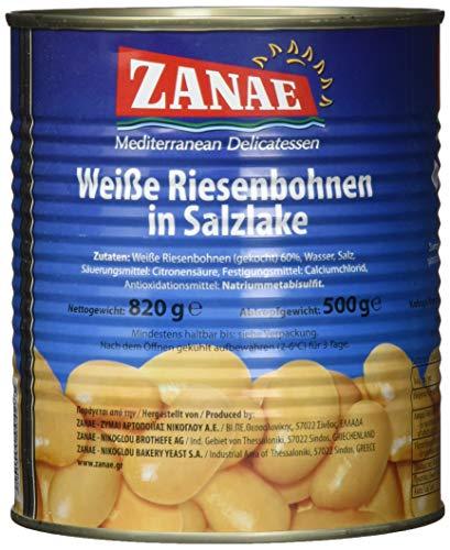 Zanae Dicke weiße Bohnen, naturell, 2er Pack (2 x 820 g Packung)