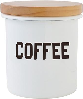 THE OLDE FARMHOUSE オールドファームハウス ホワイト ホーロー Sシリーズ 木蓋付き キャニスター COFFEE コーヒー
