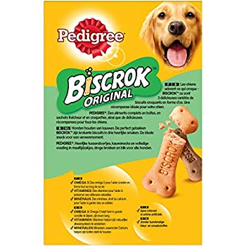 Pedigree Biscrok Original - Biscuits croquants pour chien, 12 boîtes de 500g de friandises