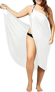 a0298259b2 Womens Beach Bikini Cover Up Spaghetti Strap Swimwear Wrap Backless Sarong  Dress