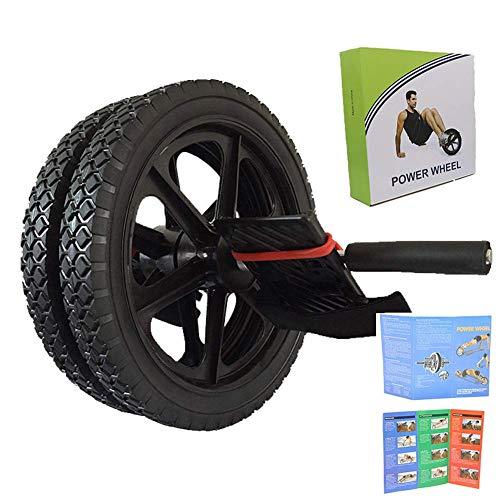 lqgpsx AB Big Roller Wheel, Equipo de Ejercicios para el hogar Power Wheel Professional Abdominal Core ABS Fitness Trainer Ejercitador para Hombres y Mujeres
