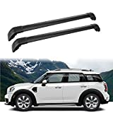 MotorFansClub Roof Rack Cross Bars Fit for Compatible with Mini Countryman 2011-2018 Crossbars Luggage Cargo Rack(Black)