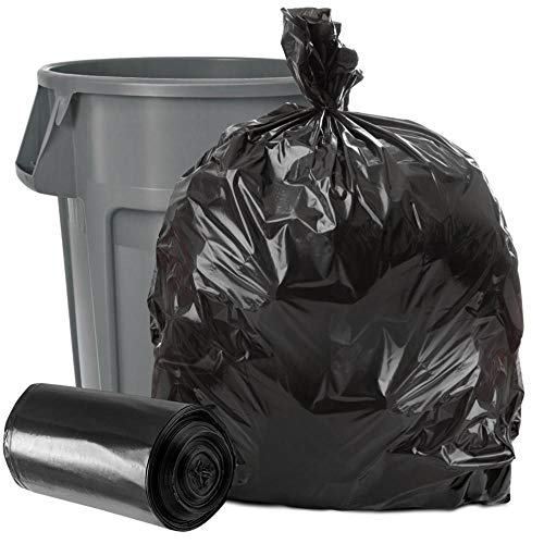 Plasticplace 40-45 Gallon Trash Bags │1.5 Mil │ Black Heavy Duty Garbage Can Liners │ 40