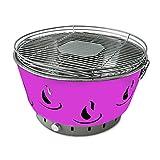 ACTIVA Barbacoa de mesa Airbroil Junior rosa, parrilla de carbón vegetal con ventilación activa.