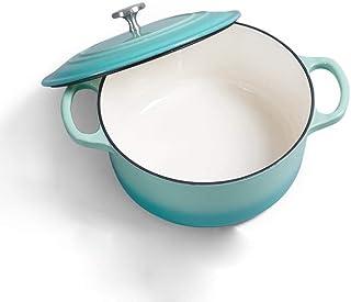 SHICCF Enameled Cast Iron Dutch Oven. Classic Red Enamel Dutch Oven Casserole Wok Soup Pot Frying Pan Household (Color : P...