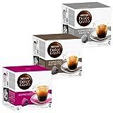 Nescafé Dolce Gusto Set Rápido: Espresso, Ristretto, Barista, Café, Cápsulas de Café, 3 x 16 Cápsulas