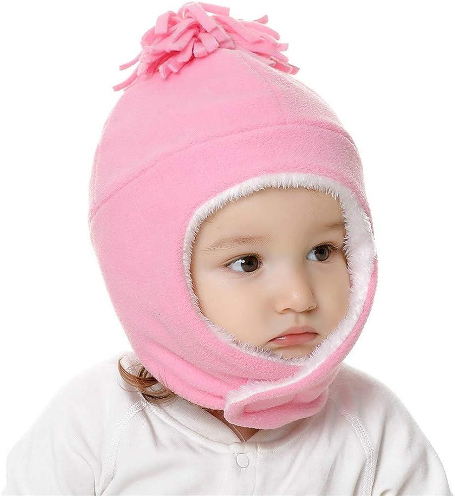 Mud Kingdom Toddler Kids Warm Fleece Winter Hat and Mitten Set Earflap Cap