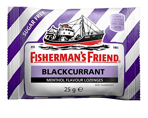 Fischerman's Friend Menthol-Lutschbonbons mit Suesstoff, Johannisbeer-Geschmack, 25 g (24 Stueck Packung)