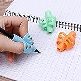 ECMQS 3Pcs Zwei-Finger Griff Silikon Baby Bleistift Halter Lernen Schreiben Werkzeuge Schreiben...