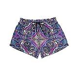 BONIPE - Bañador para mujer, diseño étnico bohemio, estampado floral, secado rápido, con cordón y bolsillos, talla S Multicolor multicolor L