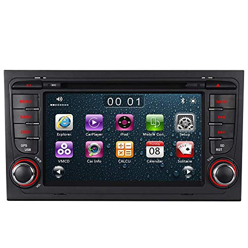 "Bilaterale Taste 7"" AUTORADIO MIT 3G DVD GPS Navigation USB SD Bluetooth Autoradio CD Moniceiver+Bluetooth+ Dual Zone+Subwoofer+DAB+Mirrorlink+VMCD Für Audi A4 S4 RS4 B6 B7 Seat Exeo"