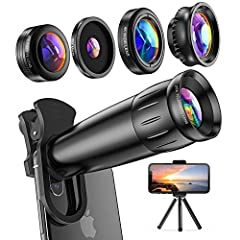 📷 2020 Latest Version: 25X HD telescope - Enhance telephoto performance of your phone! The lens has been improved that vignetting is eliminated and clear, vivid and high-quality images can be taken. Note: Attach the lens clip to the smartphone first....