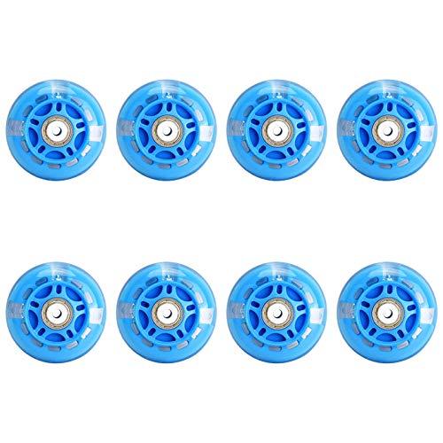 8 Stück LED Blitz Rollen für Inliner 82A PU Ersatzrad für Kinder die Nachts Skaten Ausgestattet mit ABEC-7 Lagern 64 mm 70 mm 72 mm,70mm