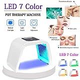 Máscara De Terapia Facial Con Fotones, Belleza Facial Portátil, 7 Colores, Luz LED,...