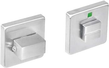 Intersteel Rozet Vierkant met Toilet-/Badkamersluiting 8mm, Roestvast Staal, Rvs Geborsteld