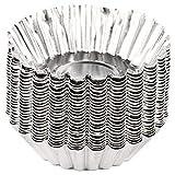 Hojffuue Molde de aluminio para tartas, antiadherente, reutilizable y reutilizable para hornear, para tartas, pudín, pudín