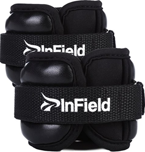 InField アンクルウェイト リストウェイト 筋トレ ウォーキング ダイエット エクササイズ 体幹トレーニング パワーアンクル リストバンド 0.5kg