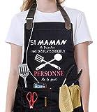 VJOLI Tablier de Cuisine Etanche pour Maman/Femme avec 6 Poches Taille...
