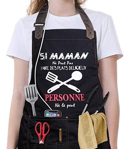 VJOLI Tablier de Cuisine Etanche pour Maman/Femme...