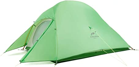 Naturehike Cloud-Up 1, 2 and 3 Person Lightweight Backpacking Tent with Footprint - 210T 3 Season Free Standing Dome Campi...