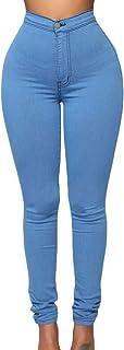 SOMTHRON Pantalones Vaqueros Ajustados para Mujer, Cintura Alta, Ajustados, con Cordones