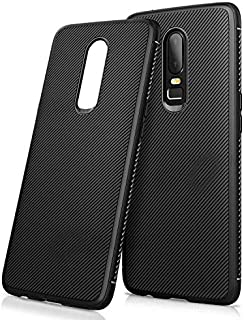 Twill Texture Slim Soft TPU Mobile Phone case for OnePlus 6 - Black
